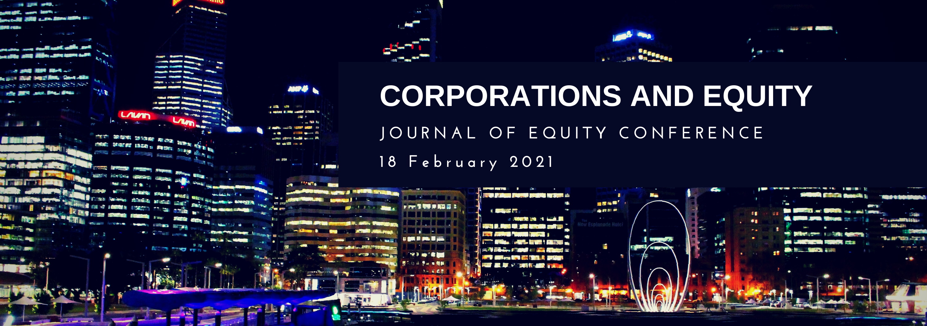 Corporations and Equity 2021 Banner